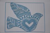 Paper Cut Dove