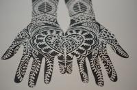 Paper Cut Henna Hands 2